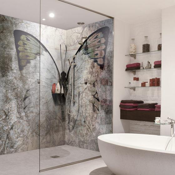 panneaux de douche design