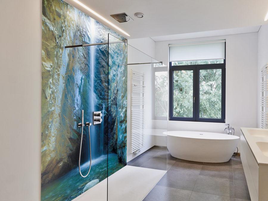 panneaux de douche nature