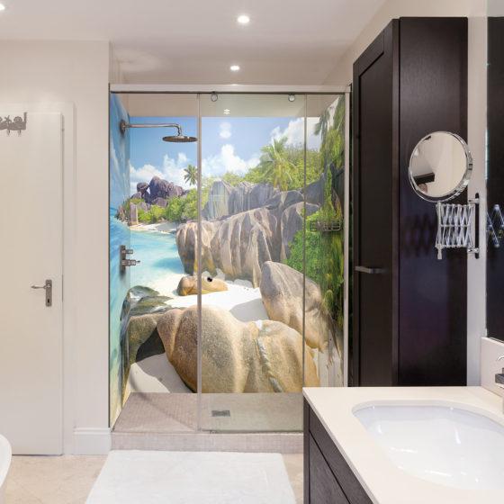 panneaux de douche voyage